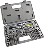 Am-Tech Tap and Die Set in Blow Case (40 Pieces)