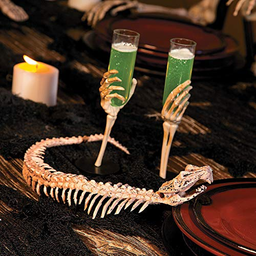 Fun Express - Halloween Skeleton Snake for Halloween - Home Decor - Decorative Accessories - Home Accents - Halloween - 1 Piece -