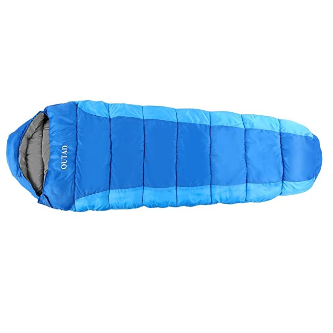 OUTAD Saco de Dormir portátil Ultraligero Mummy Saco de Dormir para Mochila, Camping, Senderismo, Viaje, Ligero y Compacto con Saco de Compresión: ...