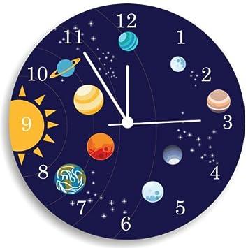 Amazoncom The Solar System Wall Clock Kids Bedroom Wall Clock - Wall clock for kids room