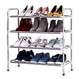 4 Tier Stackable Adjustable Shoe Rack Shoe Tower Shelving Storage Organizer Shoes Rack Stand Shelf Shoes Organizador
