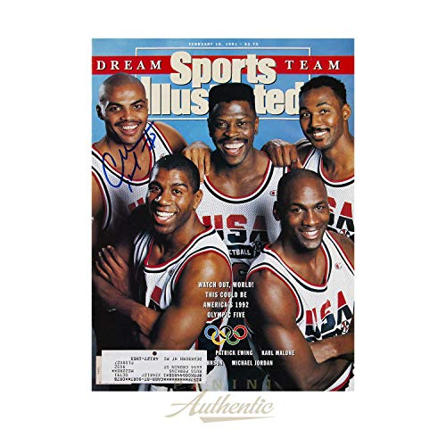 Charles Barkley Autographed Sports Illustrated USA Basketball Dream Team Issue ~Open Edition Item~ - Autographed NBA Magazines (Best Nba Team Ever Assembled)