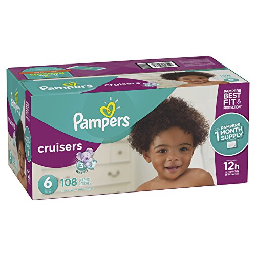 posable Baby Diapers Size 6, 108 Count, ONE MONTH SUPPLY (One Month Supply)
