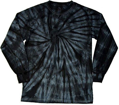 Dye Long Sleeve T-Shirts Multicolor Youth Kids Sizes (Black, 14-16) ()