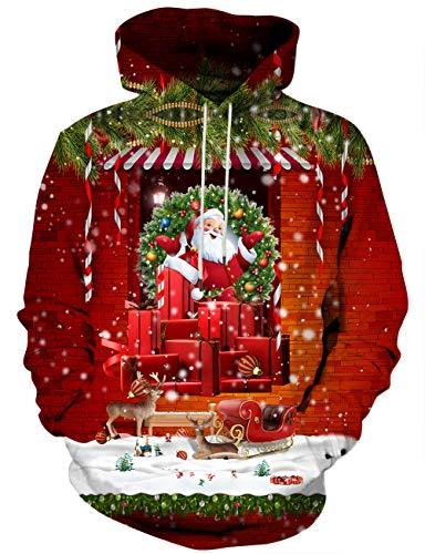 (Syaimn Unisex Realistic 3D Digital Print Pullover Hoodie Hooded Sweatshirt Medium)
