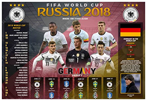 PosterWarehouse2017 GERMANY'S 2018 WORLD CUP SOCCER TEAM COMMEMORATIVE POSTER -