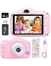 $27 » MICRODATA Kids Camera for Girls, Birthday Gifts Toys for 3 4 5 6 7 8 9 10 Year Old Girls, 3.5Inch Children's Selfie Camera, 20MP Digital Video Cameras for Children