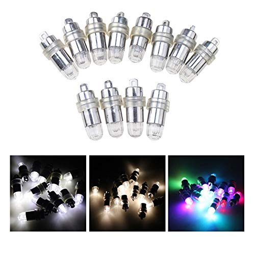 Moonnight Store 30 Pcs Lot White RGB Led Lamps Waterproof Balloon Lights for Paper Lantern Party Wedding Centerpieces Decoration Vases 2017 New (Warm White)