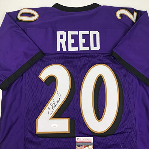 Autographed/Signed Ed Reed Baltimore Purple Football Jersey JSA - Reed Ed Jersey