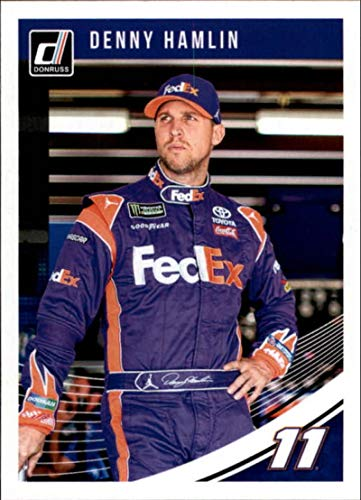(2019 Donruss Racing #63 Denny Hamlin FedEx Express/Joe Gibbs Racing/Toyota Official NASCAR Trading Card)