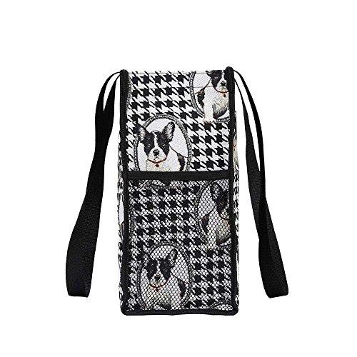 Borsa donna Signare in tessuto stile arazzo Shopping alla moda animale Bulldog francese