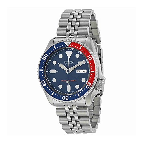 Seiko-Mens-SKX009K2-Divers-Analog-Automatic-Stainless-Steel-Watch