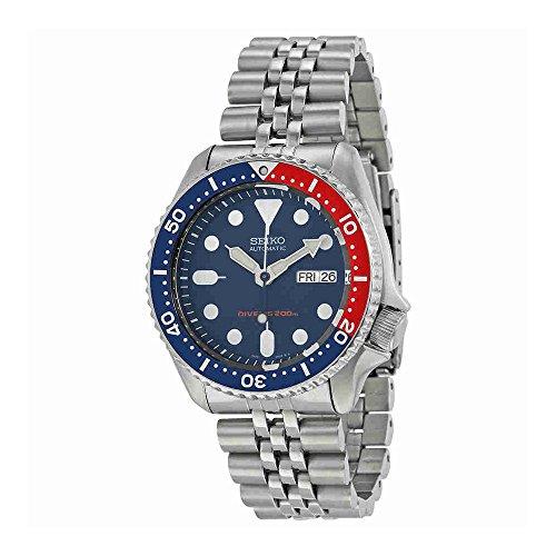 Seiko Men's SKX009K2 Diver's Analog Automatic Stainless Steel Watch - Automatic Watch Stainless Steel Band