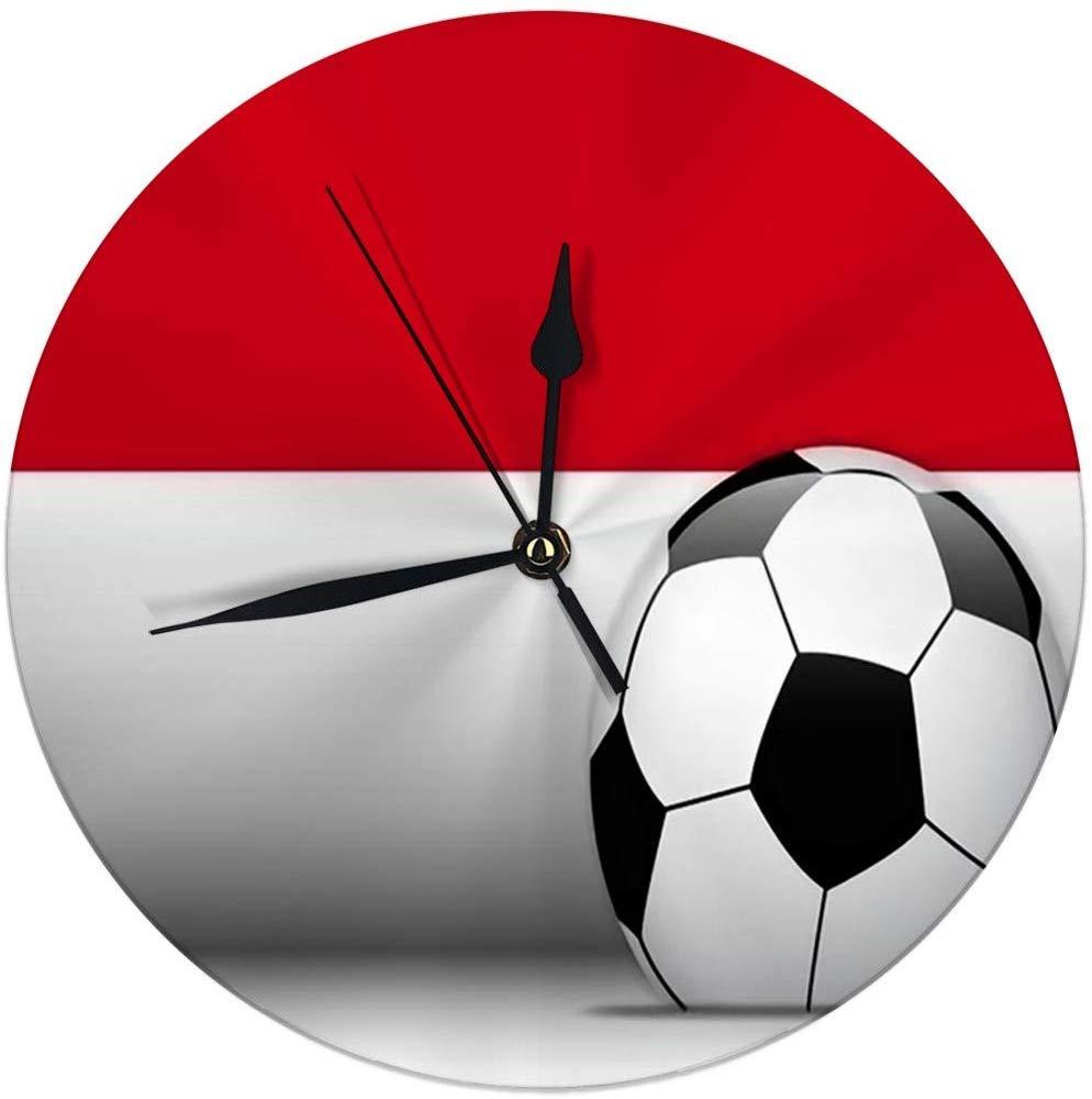 auguce Reloj de Pared Moderno Balón de fútbol de Mónaco con ...