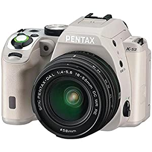Pentax K-S2 20MP Weatherized SLR with Lens kit, Tan