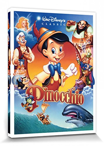 1art1 Pinocchio - Cartel De Cine Cuadro, Lienzo Montado ...