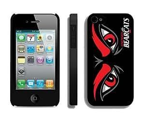 Custom Case for Iphone 4/4s Hard Cover Cincinnati Bearcats 02 Sport Design Coolest Phone Protector Accessories