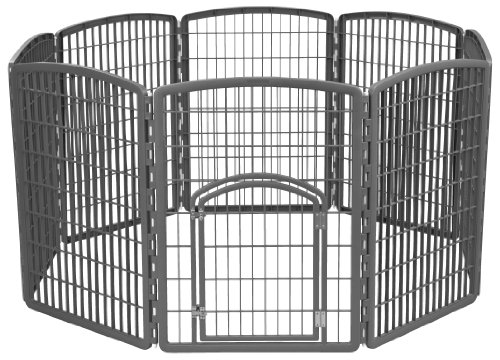 IRIS Exercise 8 Panel Pen Panel Pet Playpen with Door - 34...