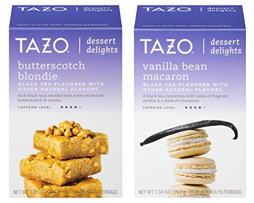 Lemon Tazo (Tazo Dessert Delights Tea 2 Box Bundle, Butterscotch Blondie and Vanilla Bean Macaron)
