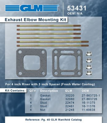 EXHAUST ELBOW MOUNTING KIT | GLM Part Number: 53431 ()