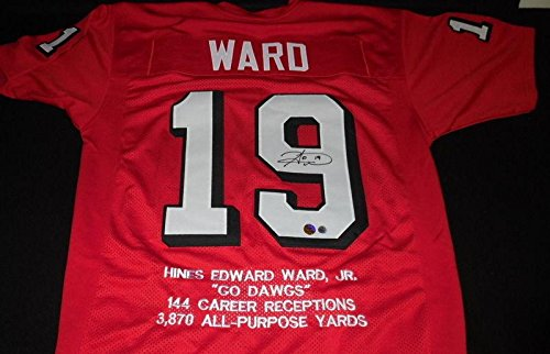 3fc3f6e2d Amazon.com  Hines Ward Signed Jersey Georgia Stat TSE   Hines COA - Autographed  College Jerseys  Sports Collectibles