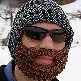 Pink Lizard Handmade Winter Cap Hat Woolen Knitted Crochet Mustache Beard Warm Mask Ski