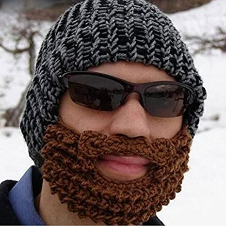 dd692258054 Pink Lizard Handmade Winter Cap Hat Woolen Knitted Crochet Mustache Beard  Warm Mask Ski  Amazon.ca  Sports   Outdoors