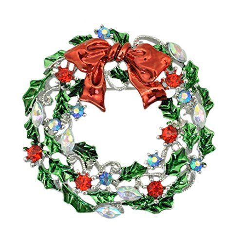 Mariposa Curtain (Usstore 1PC Christmas Wreath Drop Brooch Wedding Decorate Gift (A))