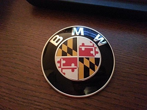 MARYLAND STATE FLAG BMW EMBLEM OVERLAYS STICKERS - FITS EVERY BMW ()