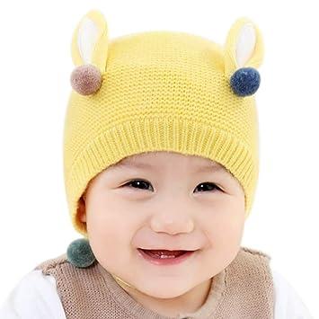 322948e33344f Scrox 1x Sombrero Peluche Orejas Lindas El Conejo Gorra Bebé Niños Gorritas  Otoño Invierno recién Nacido