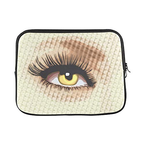 Design Custom Eye Design Layers PSP Ps Cs6 Lashes Sleeve Soft Laptop Case Bag Pouch Skin for MacBook Air 11