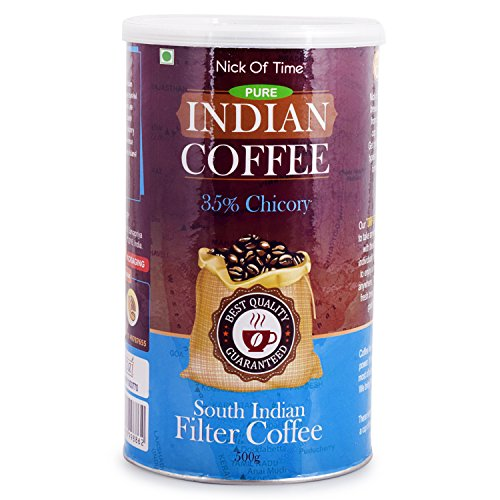 Nick of Time Chicory Blend South Indian Filter Coffee 65-35 - South Indian Coffee Filter
