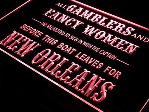ADVPRO Gamblers Fancy Women Bar Beer LED Neon Sign Red 12'' x 8.5'' st4s32-j352-r by ADVPRO