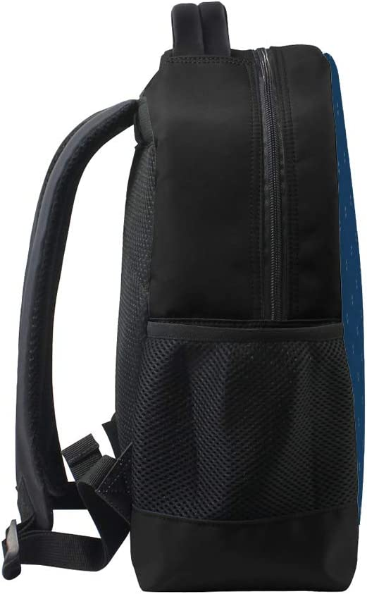 Kuizee Backpack Daypack Simple Minimalist Deep Blue Tiny Diamonds Casual Bags Durable Polyester College School Travel 11/×16Inch