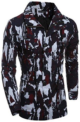 Camuffamento Sport Uomini Jeansian 9541 Uomo Inverno Red Cappotto Tendenza Capispalla Giacca Casuale Moda 4nf5qYzf