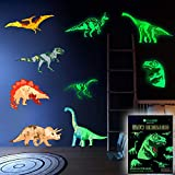 Dinosaur Wall Decals for Boys Room Glow in The Dark Stickers, Large Removable Vinyl Decor for Bedroom, Living Room, Classroom - Wall Cool Light Art Gift for Kids Nursery and Teens
