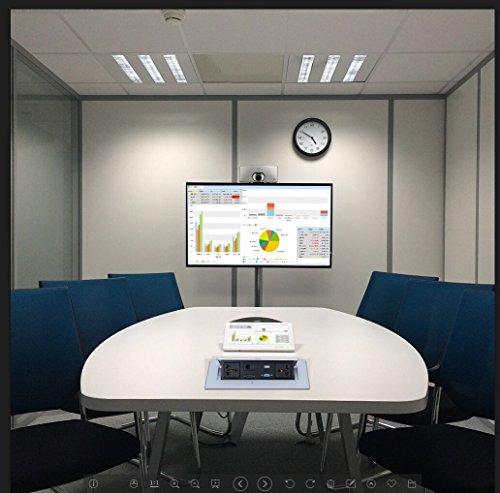 E-best Multimedia Pop up Desktop Power Office Hidden Desktop Socket Multi Outlet with HDMI /VGA /AV / Audio / Universal Power Socket / USB2.0 / 2 Network / 6.35 Mic Interface by Ebest (Image #7)