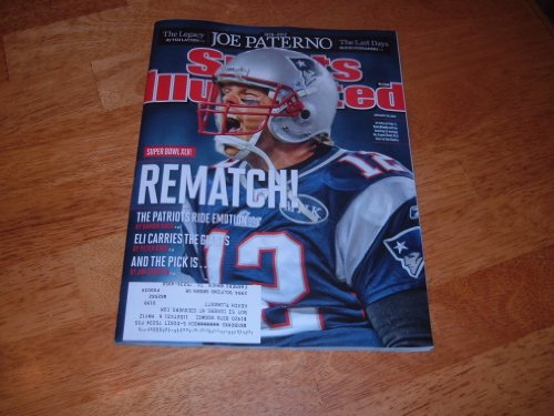 Sports Illustrated, January 30, 2012-Tom Brady, New England Quarterback, on cover. Super Bowl XLVI Preview & Joe Paterno Tribute.