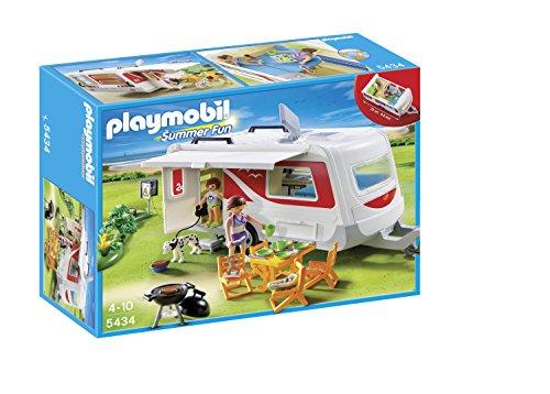 Playmobil Vacaciones - Caravana Camping (5434): Amazon.es: Juguetes y juegos