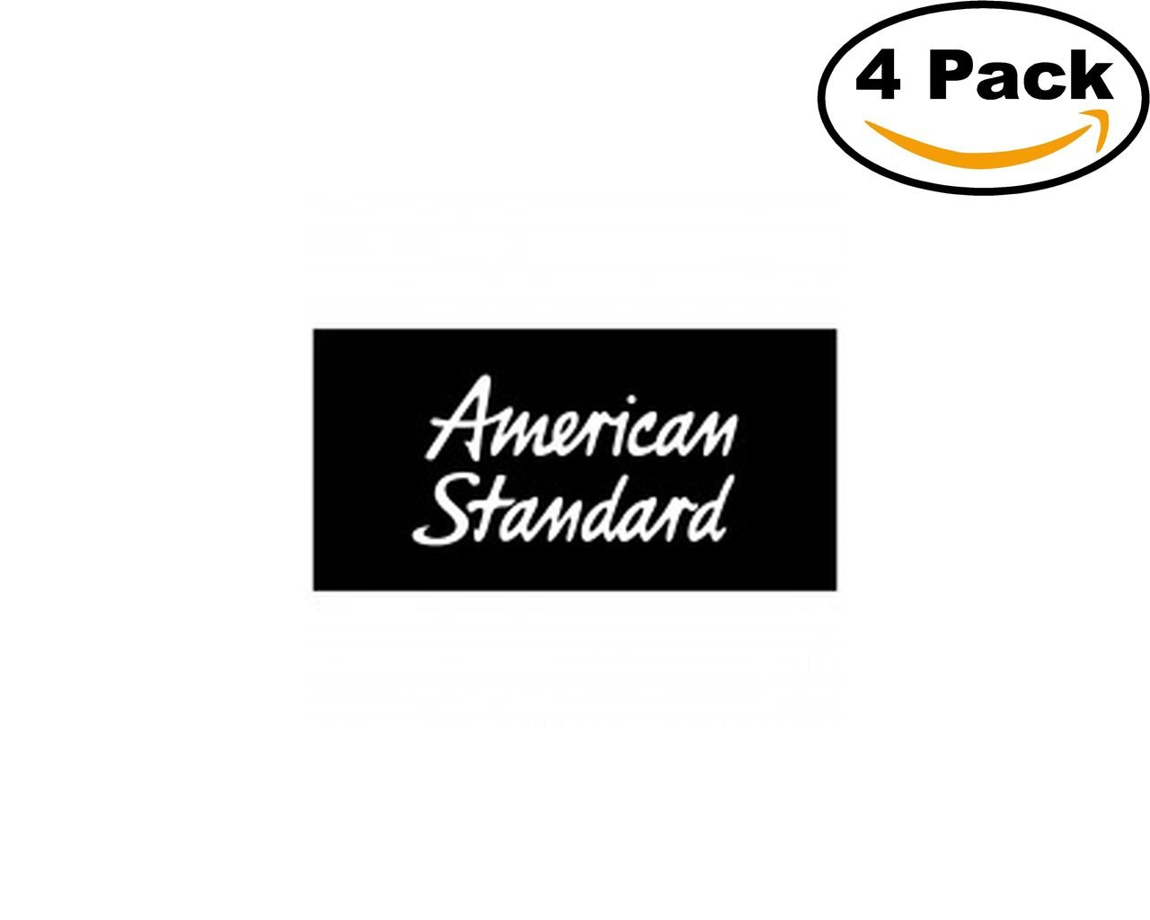 Amazon.com: Construction American Standard Logo 4 Stickers 4X4 ...