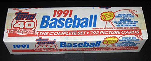 1991 Topps Baseball Factory Set (792) White Box * Chipper Jones RC -