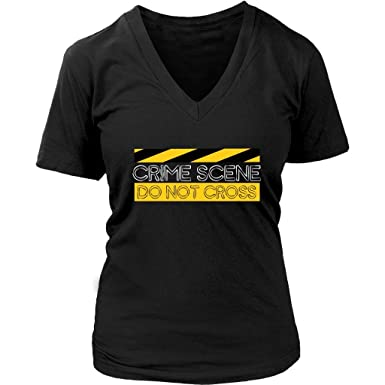 f16ff85b1f5d Crime Scene T Shirt Do Not Cross Tape T-Shirt Investigation - Womens Plus  Size Up to 4X at Amazon Women's Clothing store: