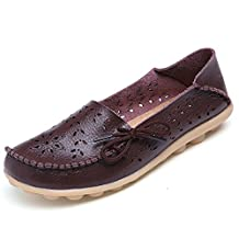 Women Flats Cut-outs Comfortable Casual Shoes Round Toe Loafers Moccasins Wild Breathable Driving Shoes