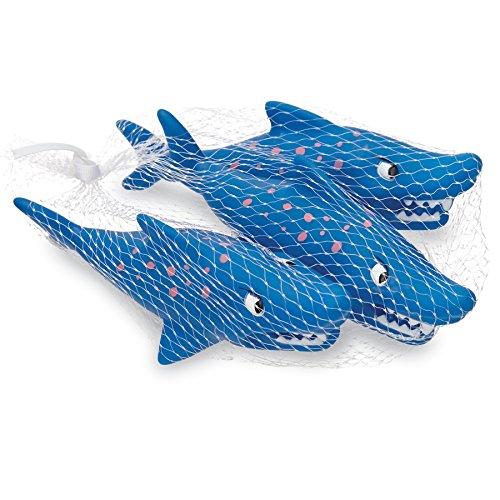 3 Piece Bath Toy - Mud Pie 3 Piece Shark Squirting Bath Toy Set