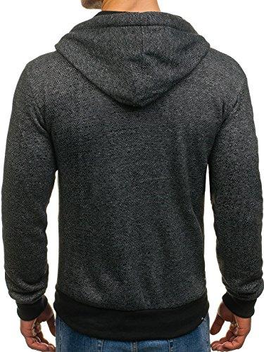 Noir Bolf a83 De Sport Pull Fermeture 1a1 Coton Éclair Sweatshirt Capuche vtvqwx1zr