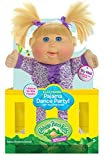 "Cabbage Patch Kids 12.5"" Dance with Me Girl Purple Polka Dots Baby Doll, Blonde"