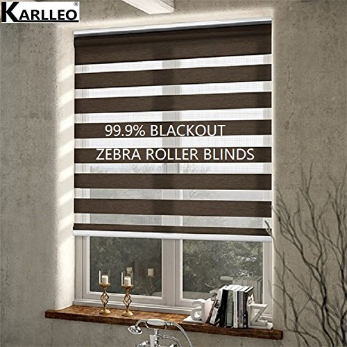 High Quality Manual/Motorized Window Rainbow Twilight Zebra Roller Blinds Curtain(NO.B1 Light Filter)Websize Priced at Manual(1pc, 39 W x 39L, Standard)Contact us for Customize Size 39 W x 39L karlleo-curtain SS1