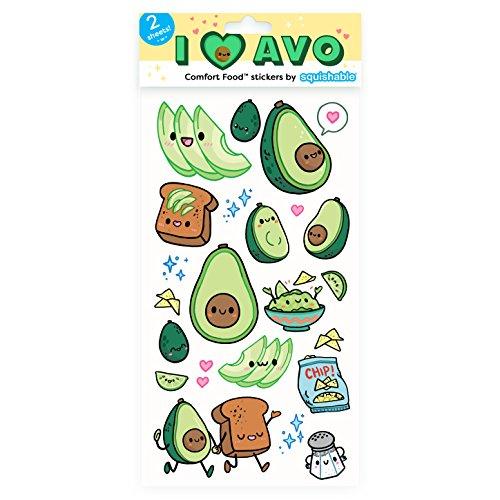 - Squishable / Avocado Flat Stickers
