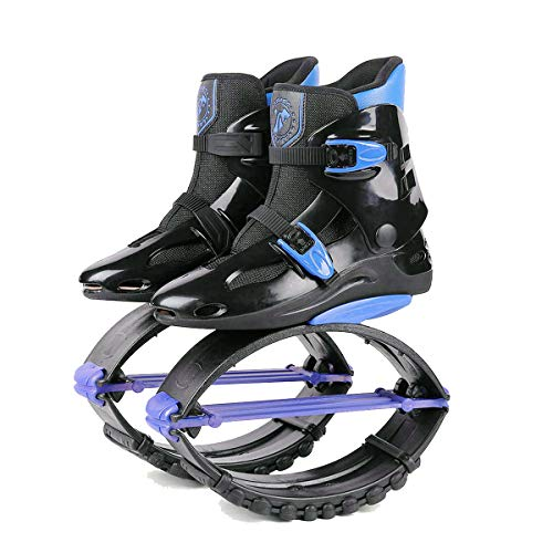 Air Kicks Anti Gravity Boots (ZCOINS Unisex Kids Adults Anti-Gravity Running Boots Fitness Bounce Shoe Jumping Shoes 60-240 LBS (Black Blue, XL (Mens 8-10 for 200-240)