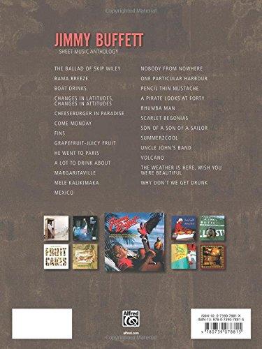 Jimmy Buffett Sheet Music Anthology Pianovocalguitar Jimmy